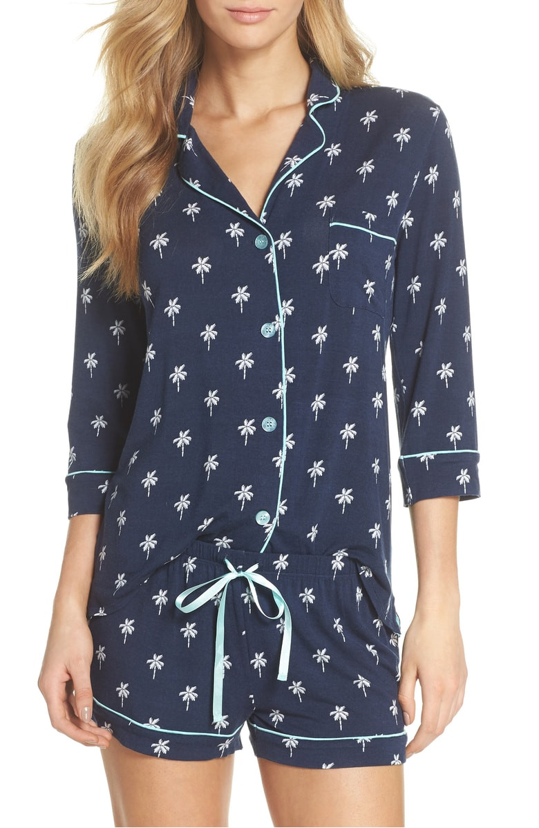 PJ Salvage Modal Three-Quarter Sleeve Short Pajamas $58.90