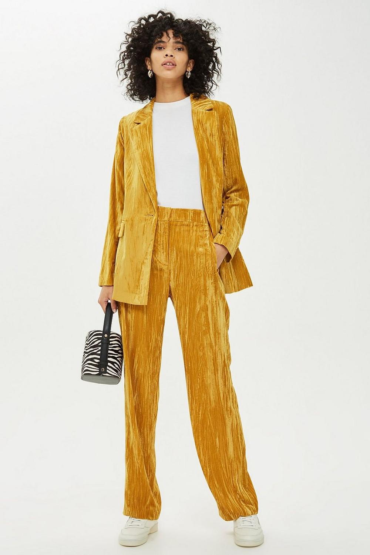 Topshop Crinkle Velvet Suit $170