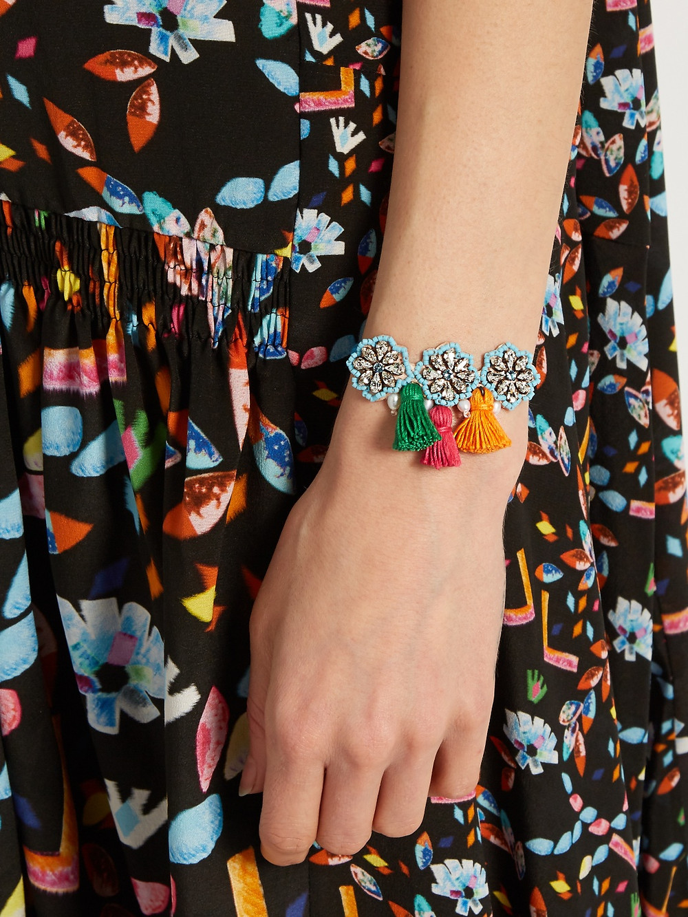 Shourouk  Hippie Flower bracelet now $74