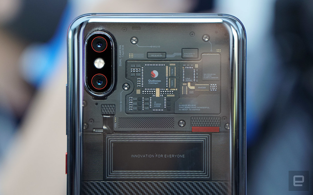 Xiaomi's transparent phone shows off a dummy circuit board - Read More from Engadget