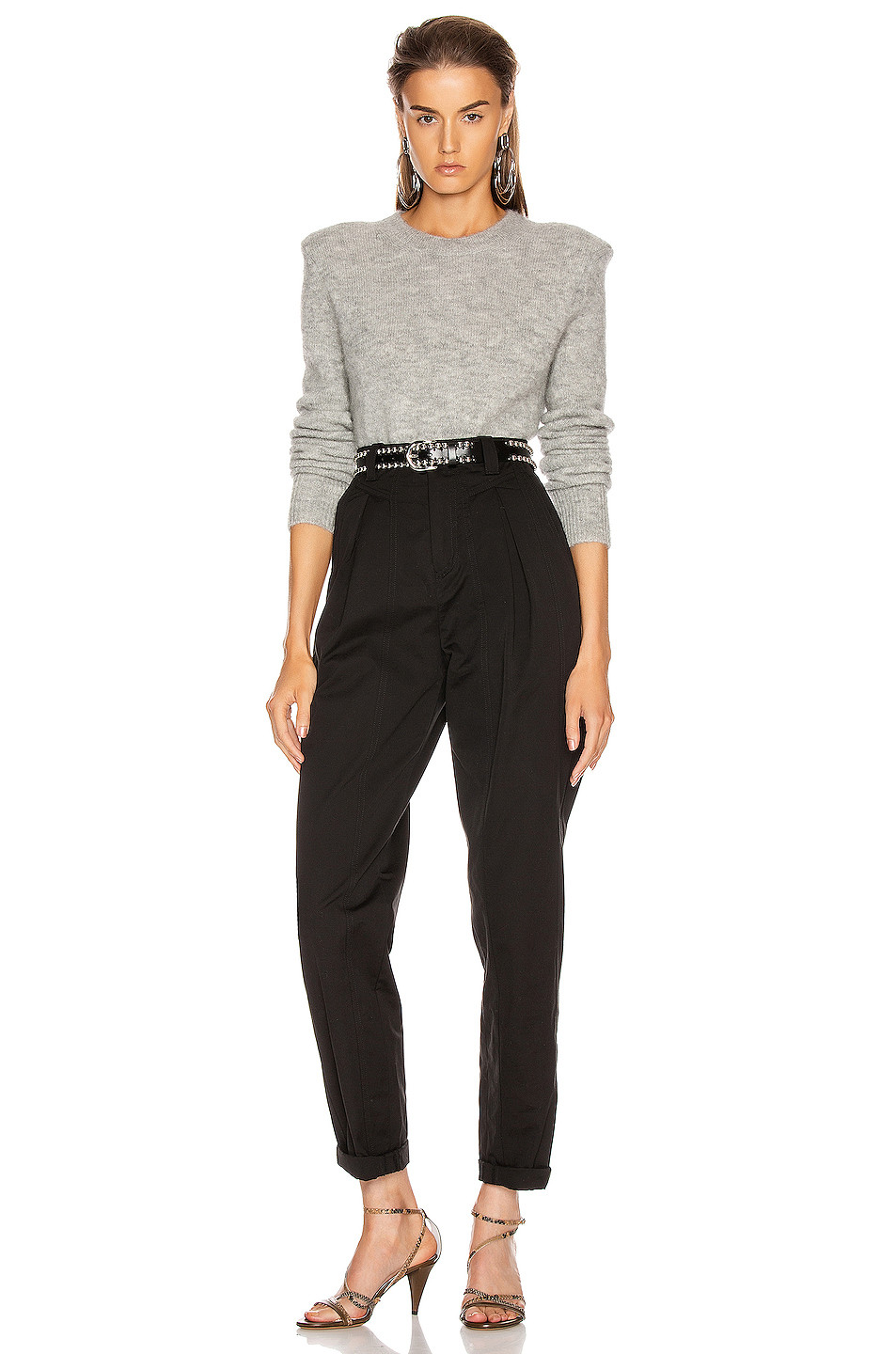 Isabel Marant Flora Sweater with Padded Shoulders $740