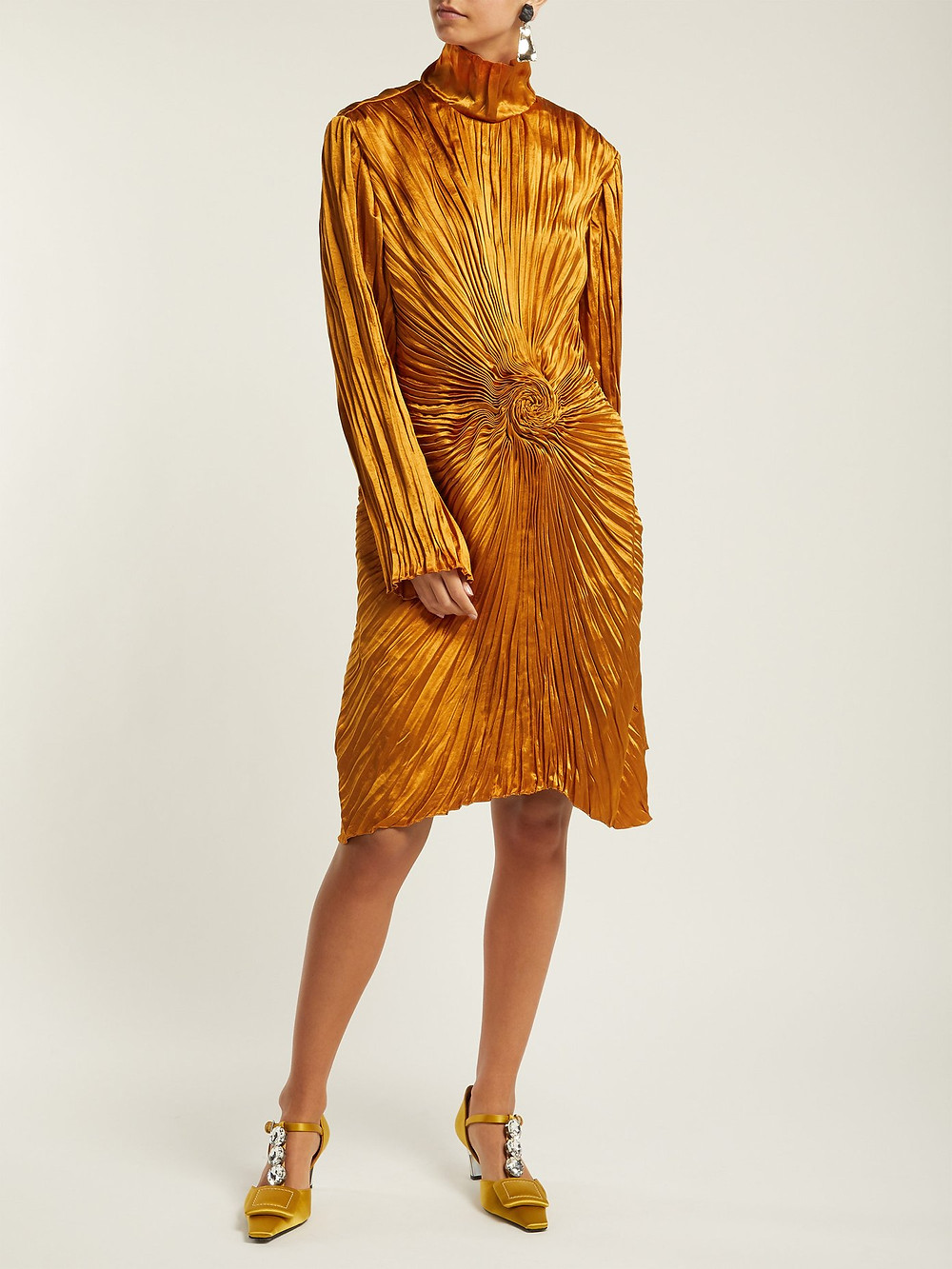 Sies Marjan Ida pleated satin dress $2,295