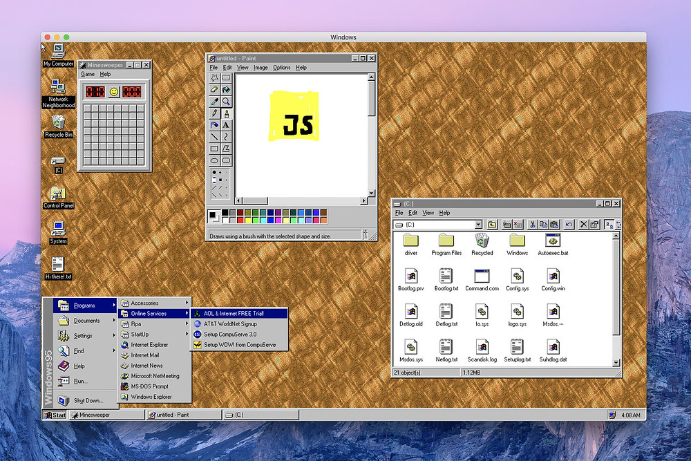 Windows 95 is now an app you can download and install on macOS, Windows, and Linux - Read More from The Verge