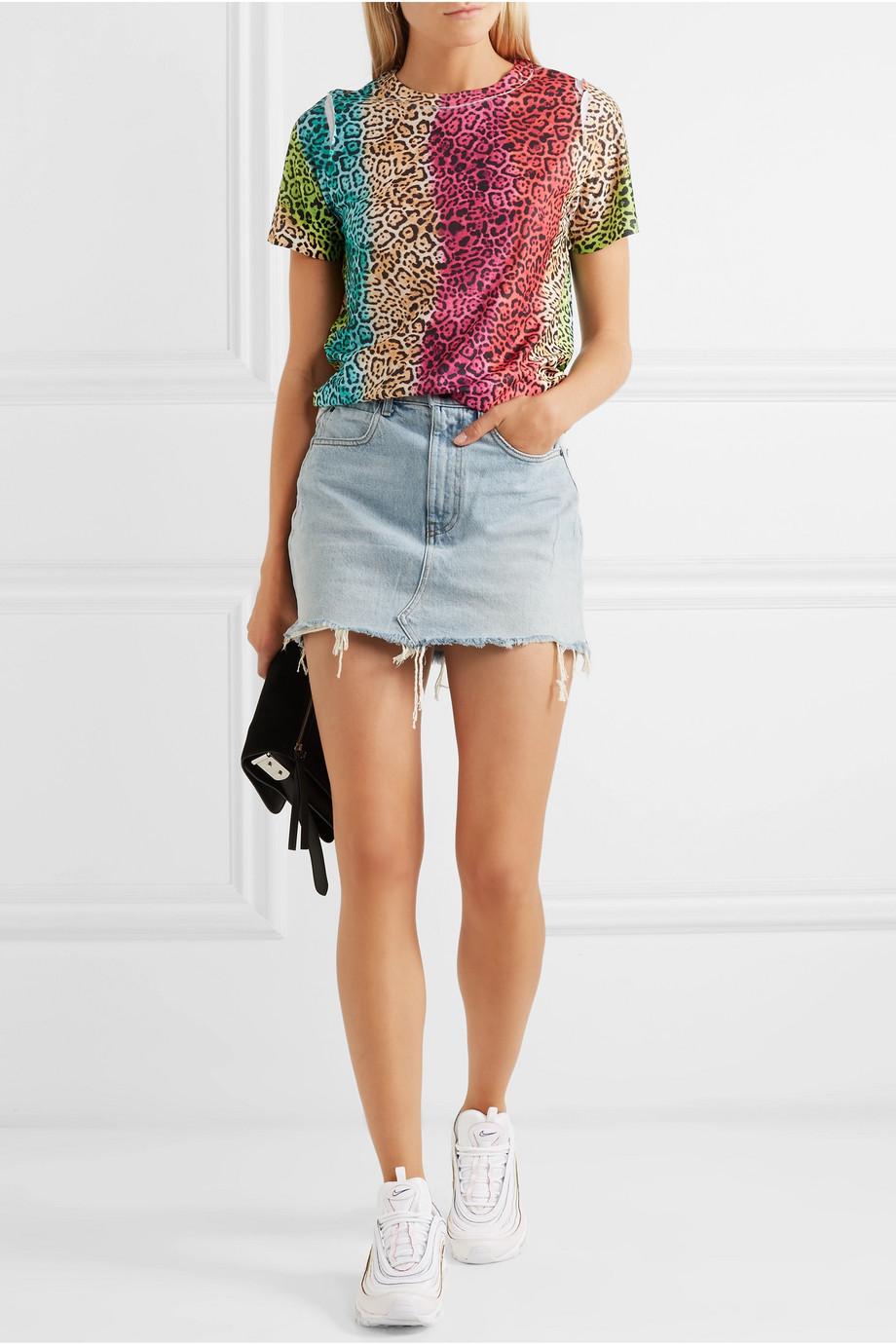 BLOUSE Leopard-print cotton-jersey T-shirt $115