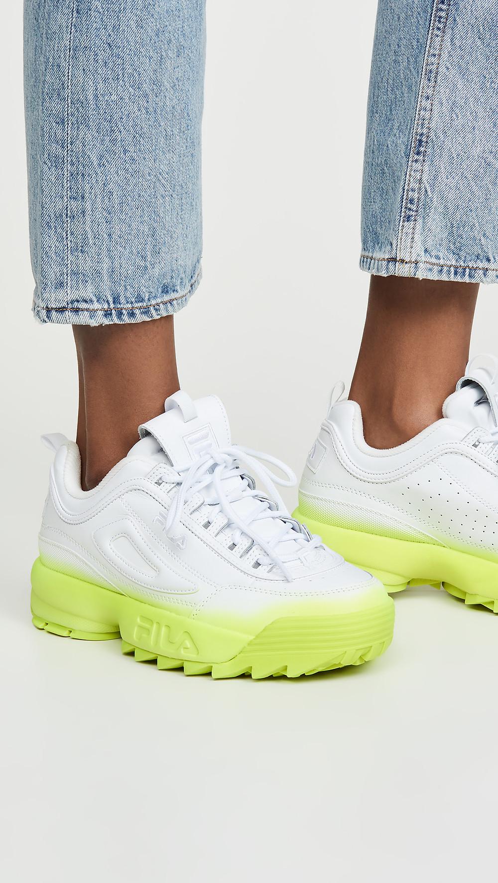 Fila Disruptor II Brights Fade Sneakers $75