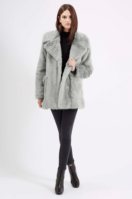 Topshop-Patch Pocket Luxe Faux Fur Coat-$180