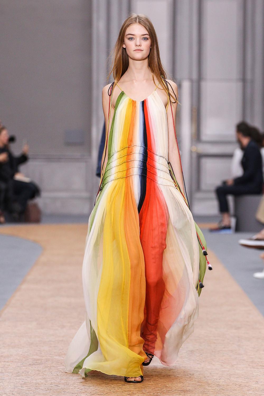 Chloe Spring 2016- rainbow style runway look