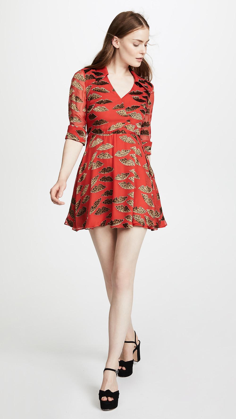 alice + olivia Catina Dress in leopard-print $395