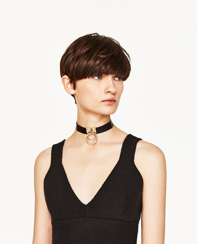 Zara Choker with rounded rings $19.90