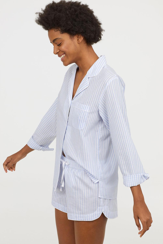H&M Pajama Shirt and Shorts $24.99