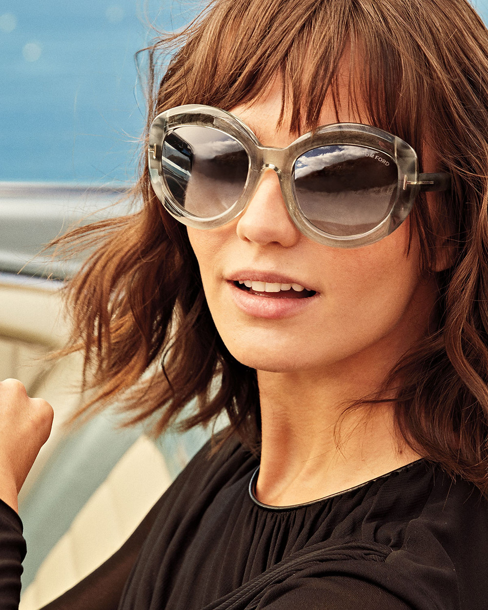 Tom Ford Bianca Two-Tone Acetate Gradient Sunglasses, Champagne $445