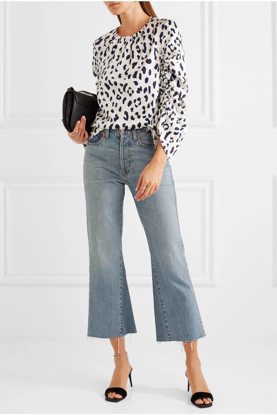 Tibi Leopard-print silk-satin blouse $178.50