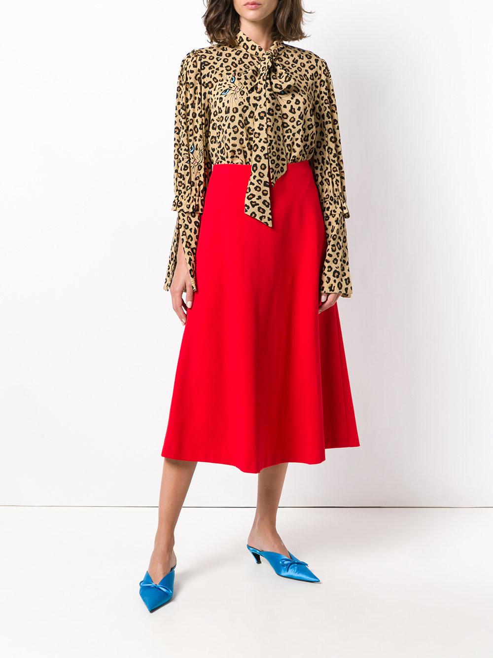 Vivetta leopard pussy bow shirt $815