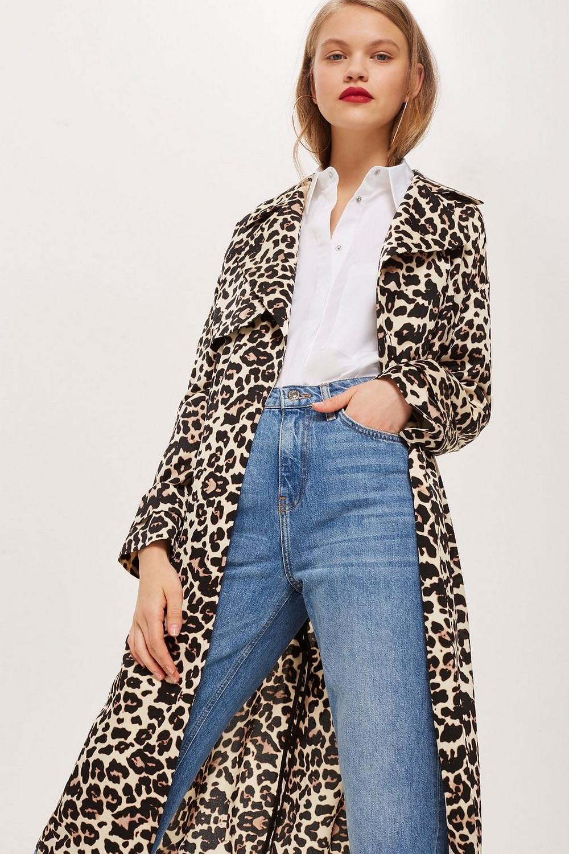 Topshop Leopard Print Duster Coat $130