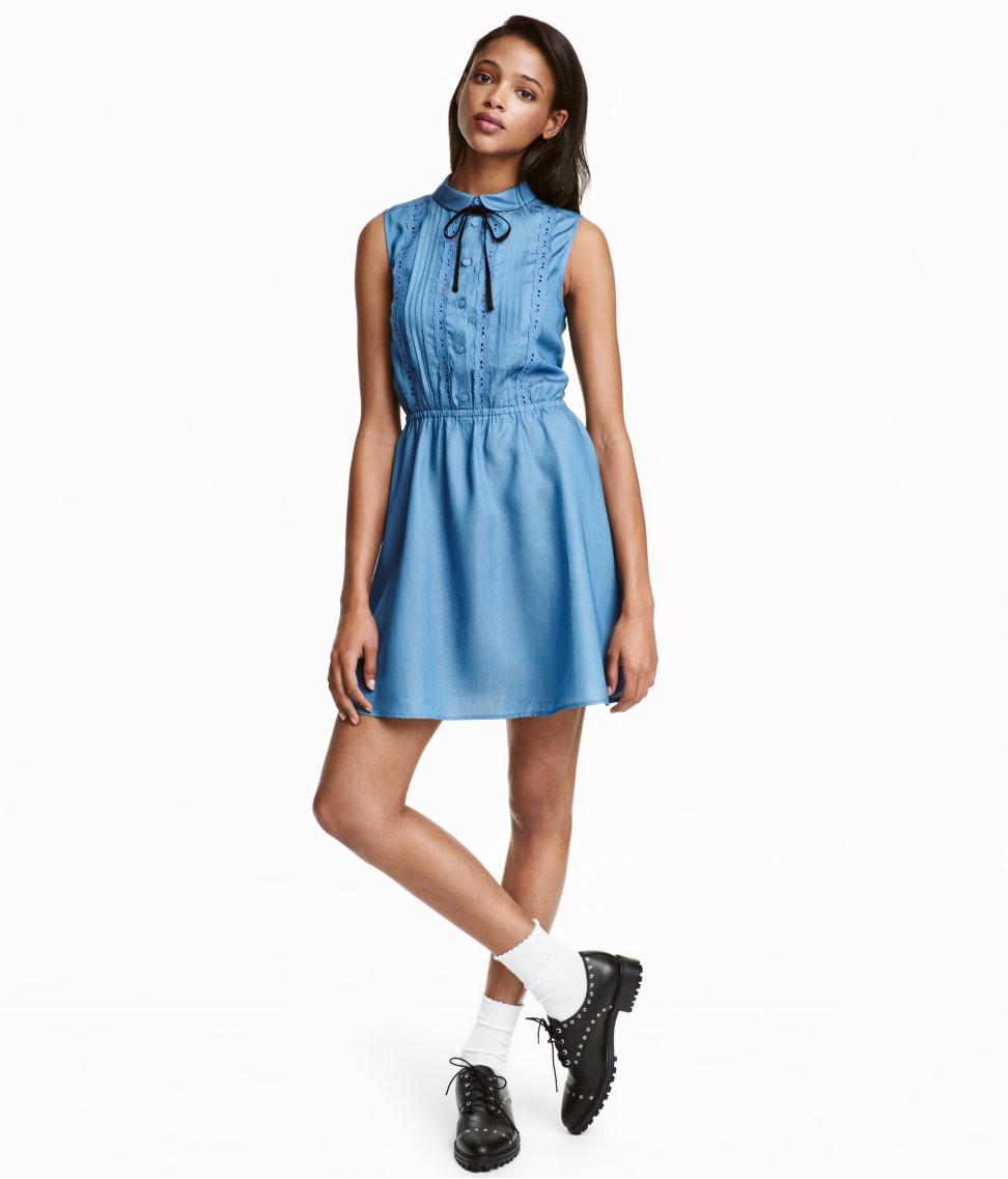 H&M Sleeveless Dress with Peter Pan Collar $34.99