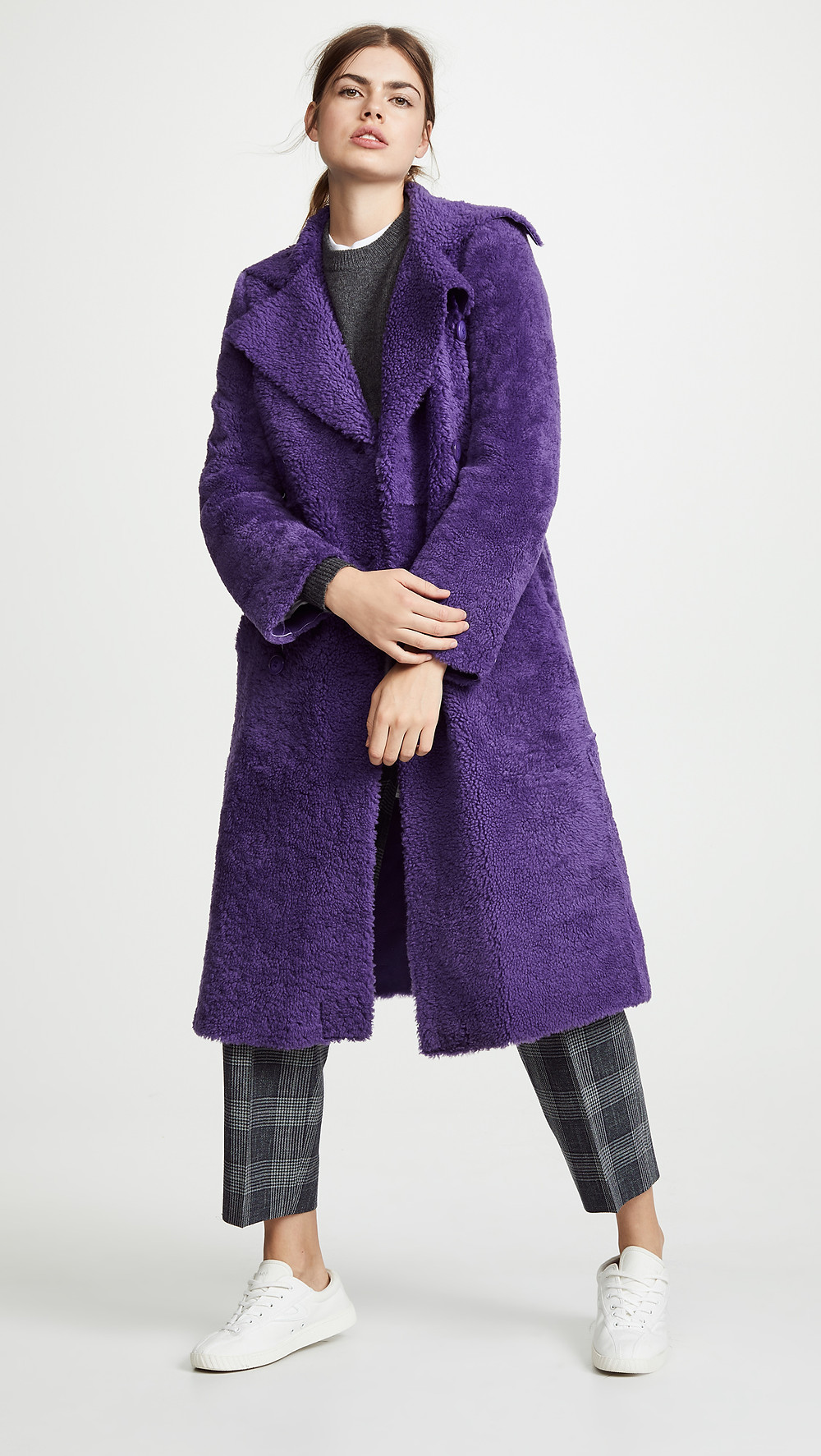 Anne Vest Edit Trench Shearling Coat $2,230