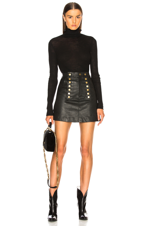 Marissa Webb Rowena Stretch Leather Skirt  $698