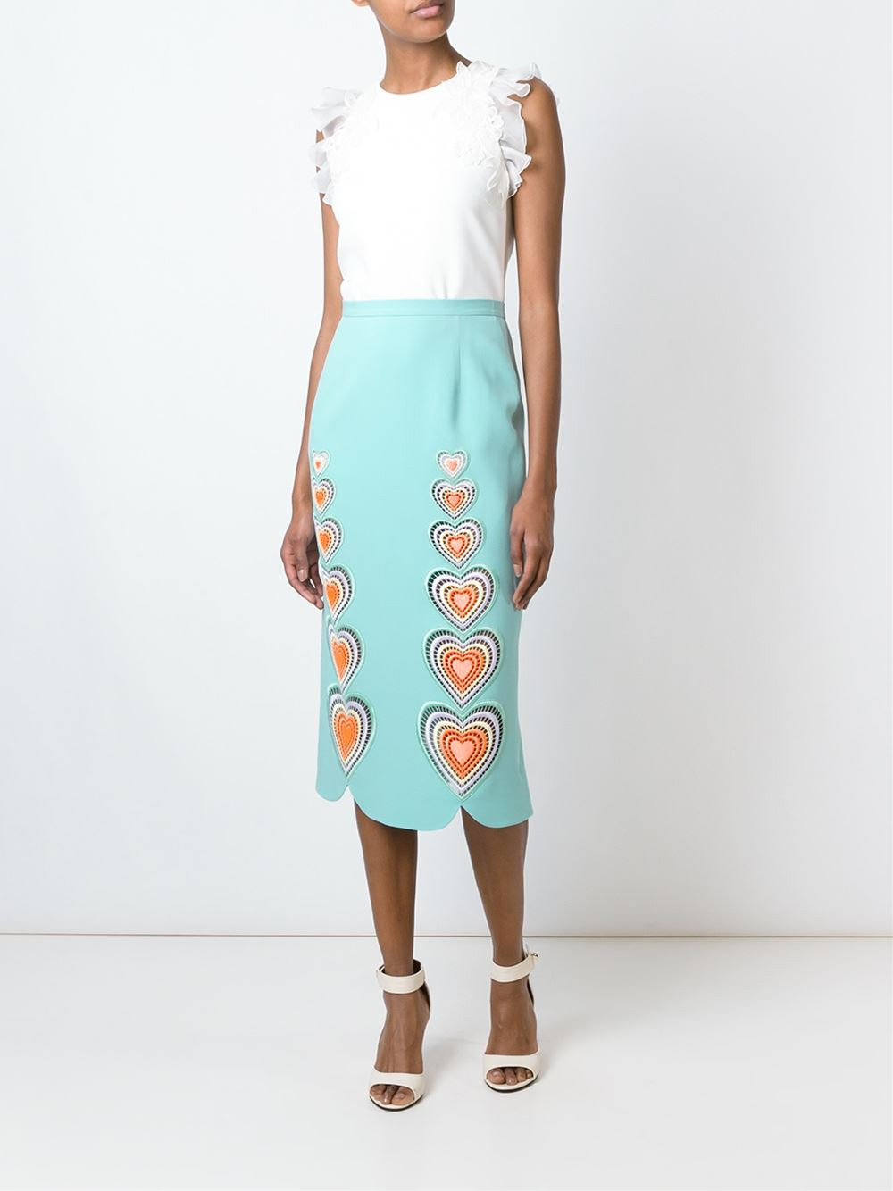 Christopher Kane macrame heart skirt now $836.50