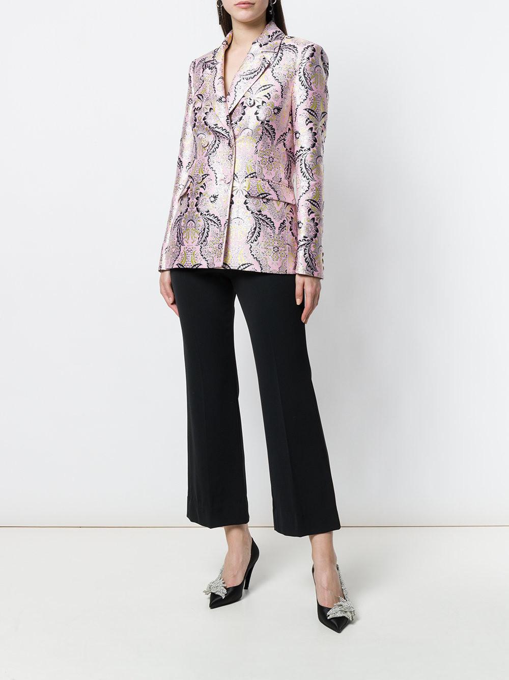 MSGM jacquard fitted blazer $591