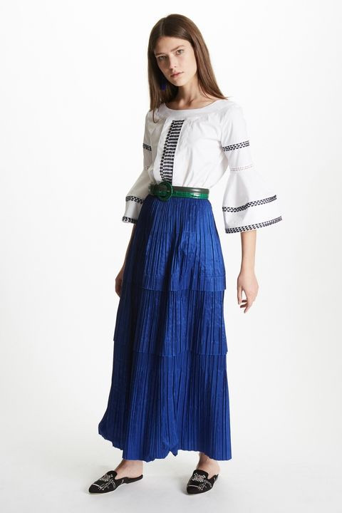 Oscar de la Renta Pre-Fall 2017 Pleated Silk-Taffeta Skirt $1,990