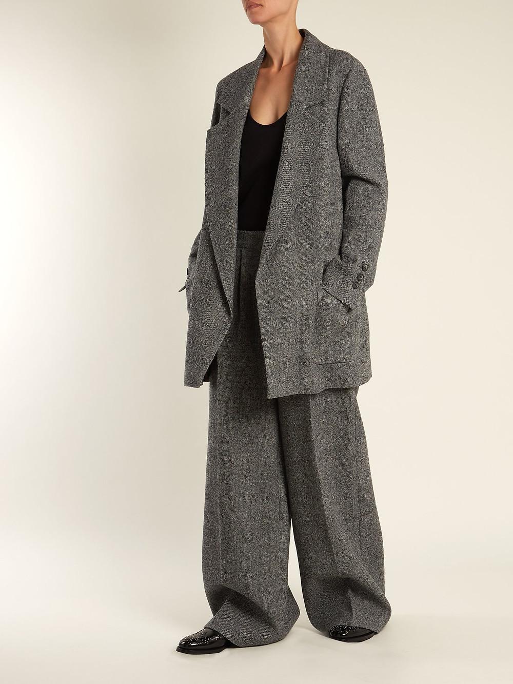 RAEY Oversized wool-tweed blazer $456