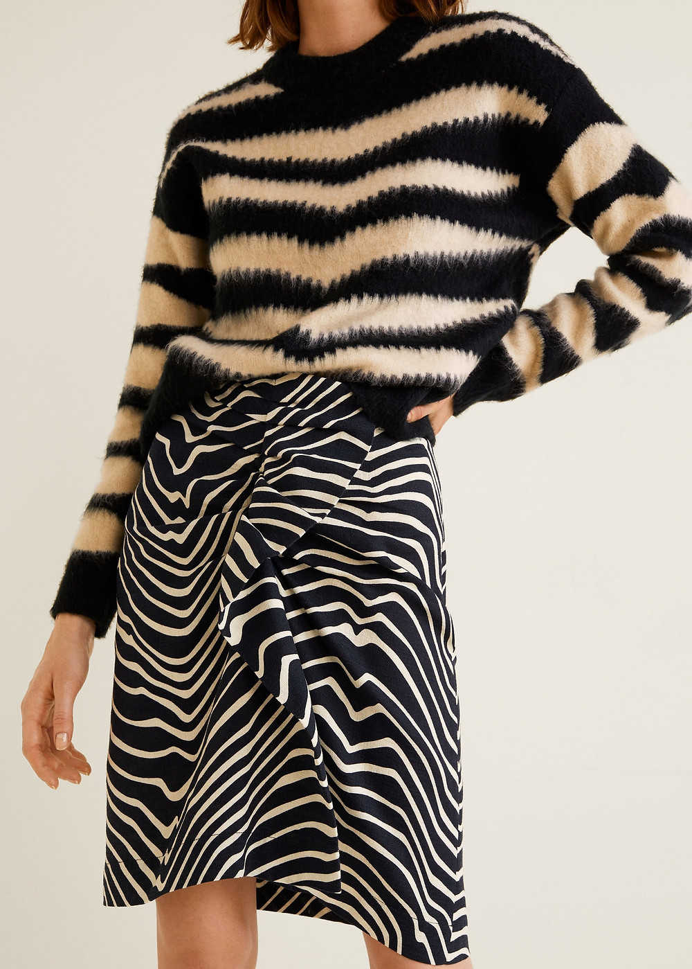 Mango Zebra print skirt $79.99
