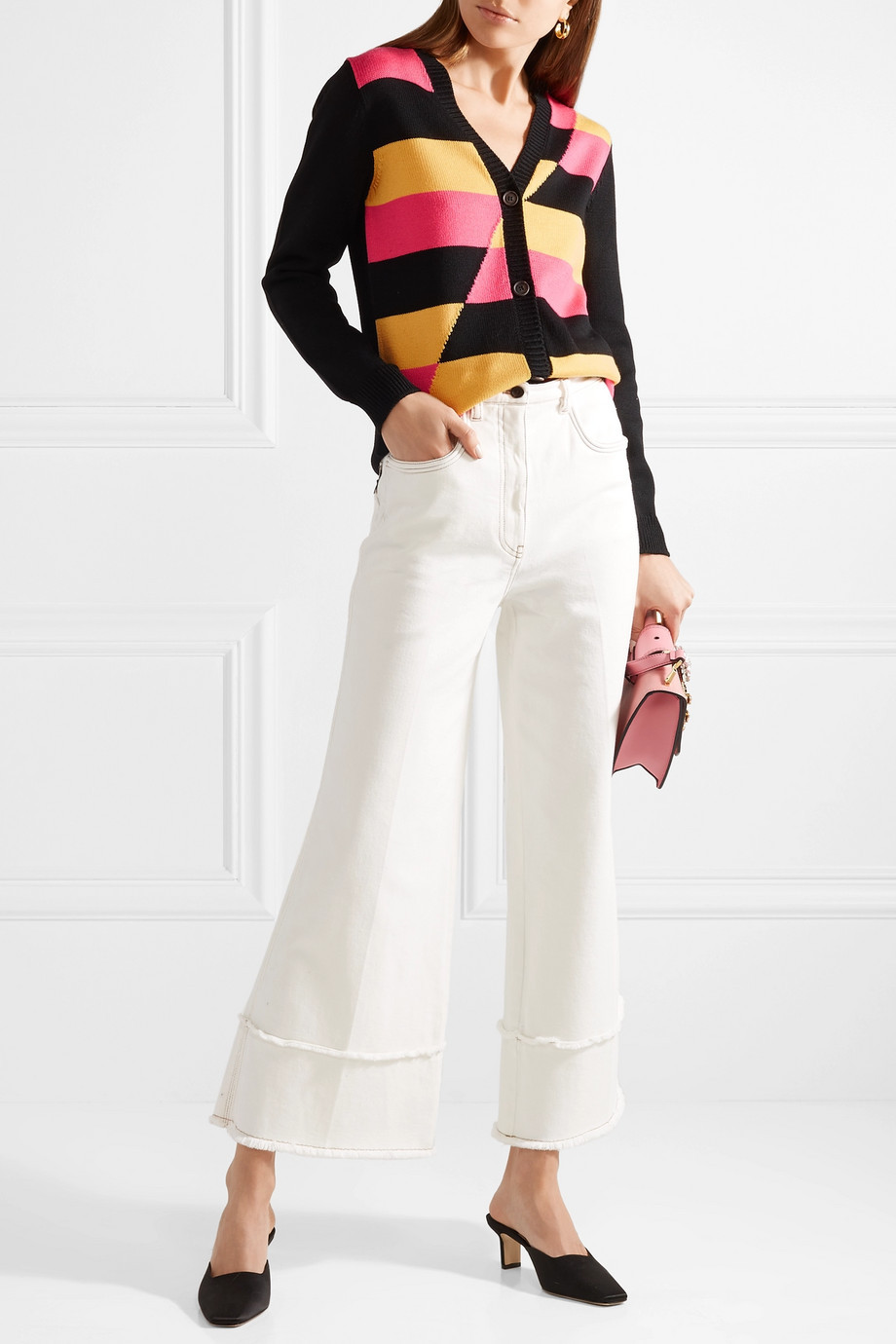 The cardigan and the jeans are on sale the other items that make up the look are are not on sale - But you can click the links below