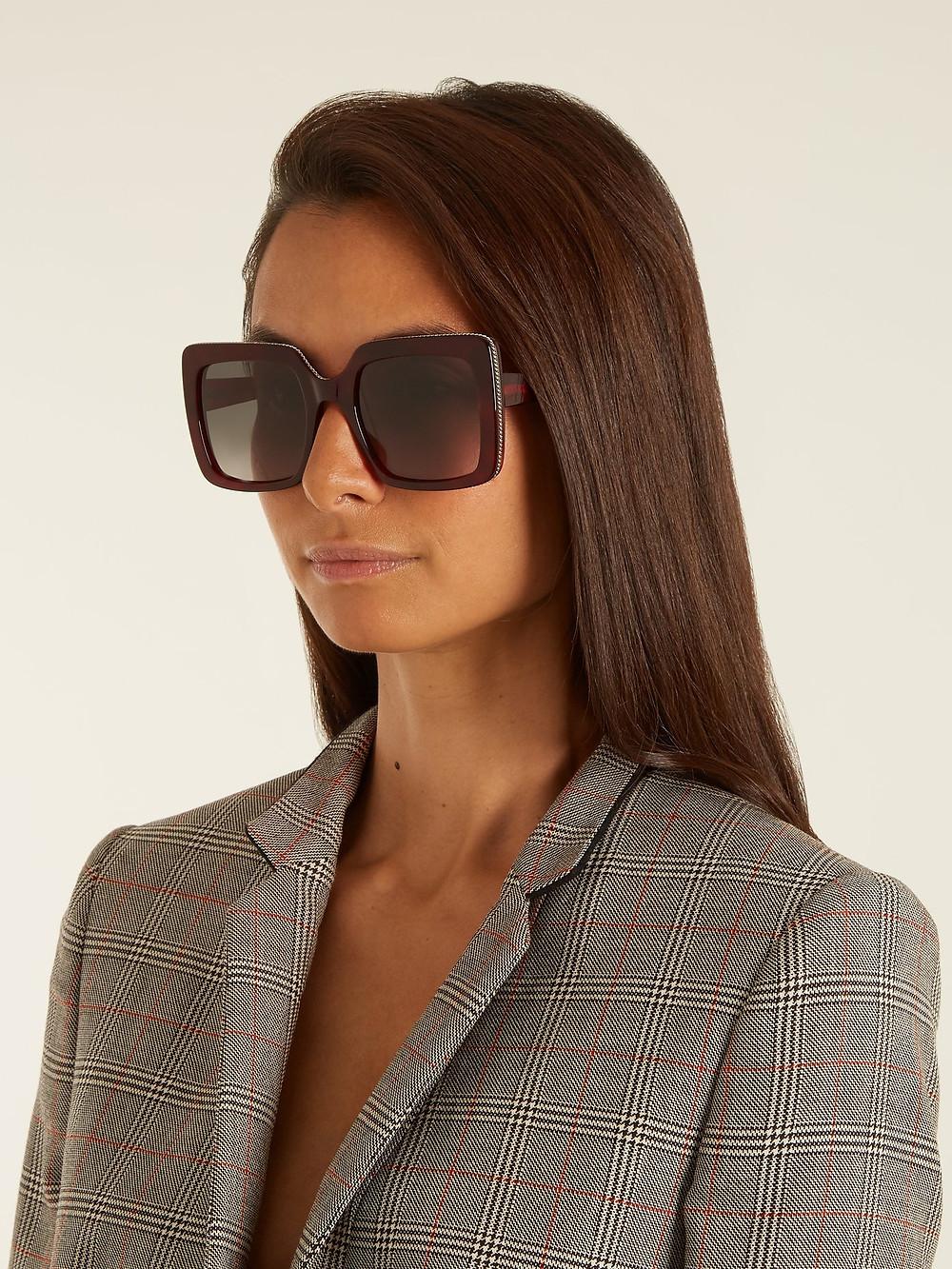 Stella McCartney Falabella square-frame sunglasses $284