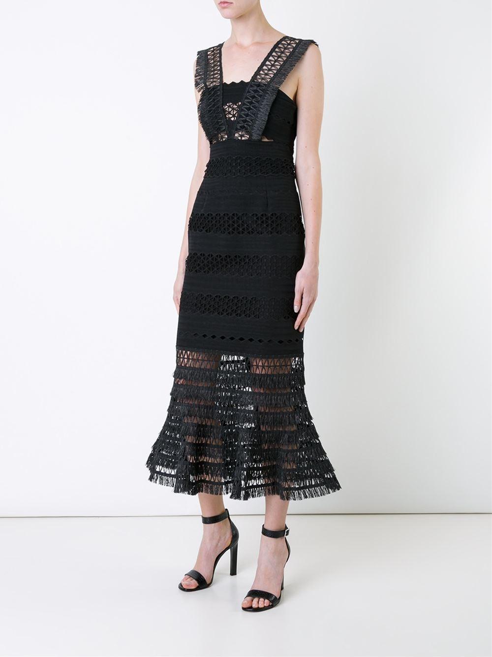 Jonathan Simkhai macramé mermaid skirt dress now $705.18