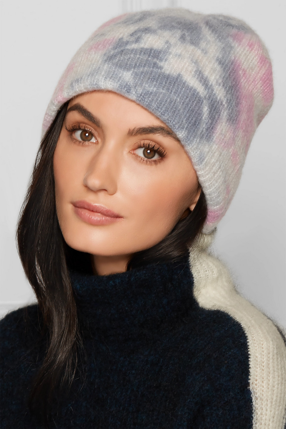 The Elder Statesman Watchman tie-dyed ribbed cashmere beanie $385