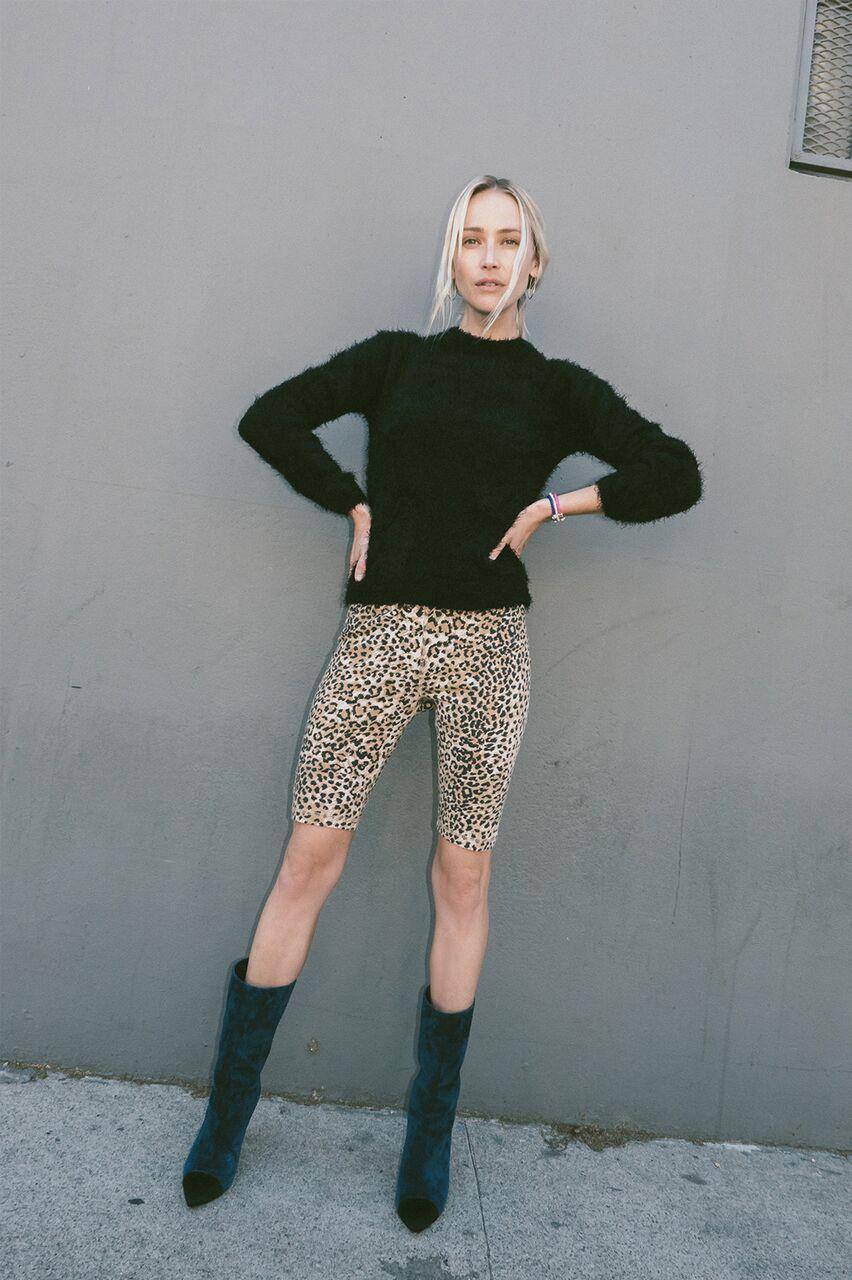 THE BIKER SHORT Brown Leopard $79