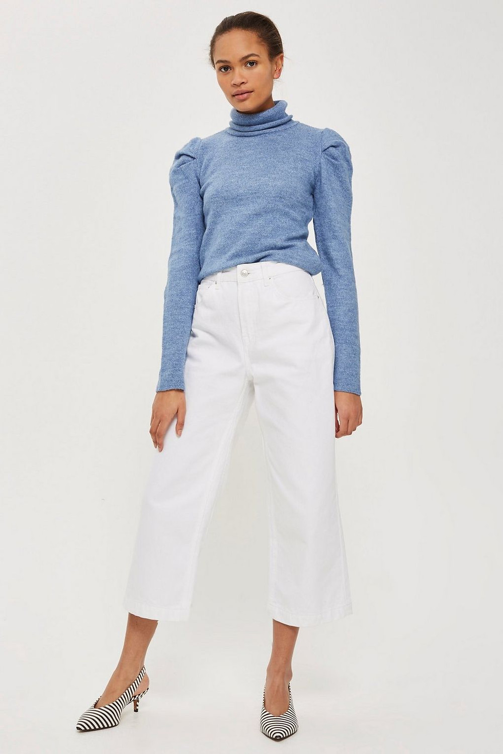 Topshop Bold Sleeve Roll Neck Sweater $20