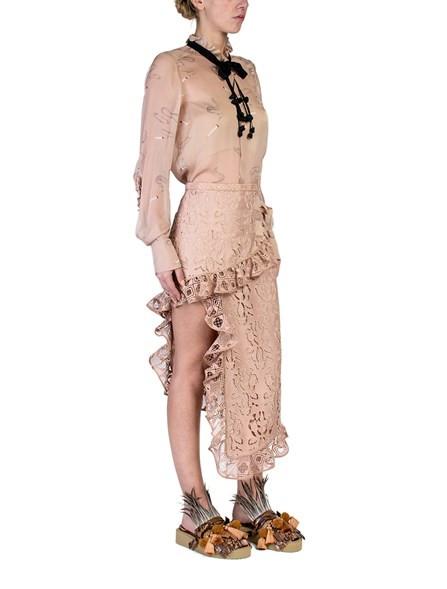 N° 21 Asymmetric Macramé Lace Skirt now $676