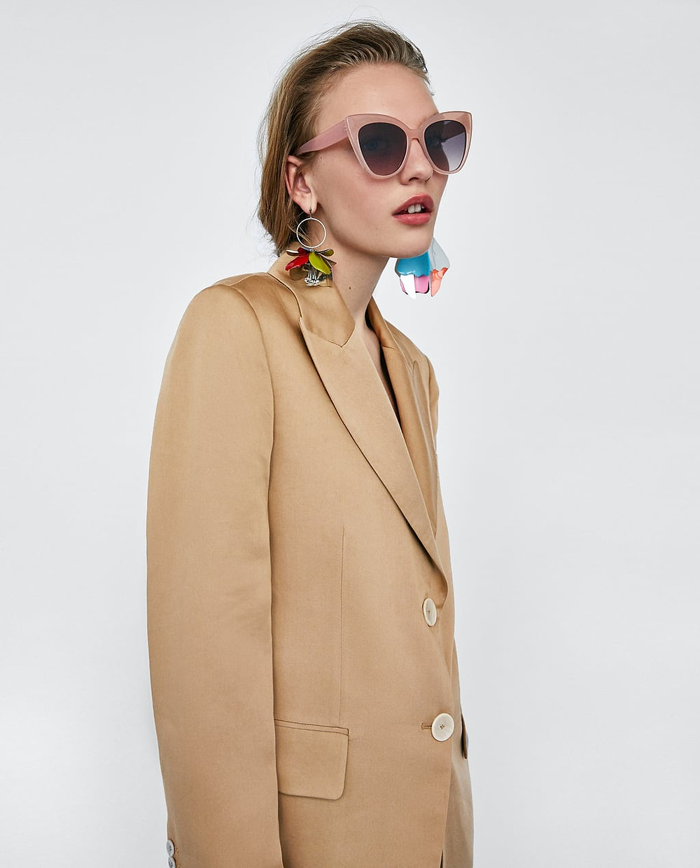 Zara Resin Cateye Sunglasses $25.90