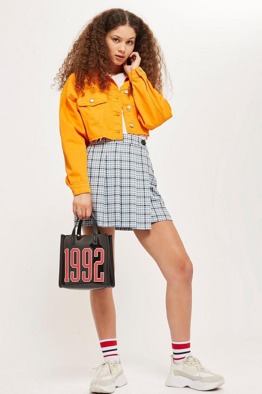 Topshop TALL Check Kilt Skirt $60