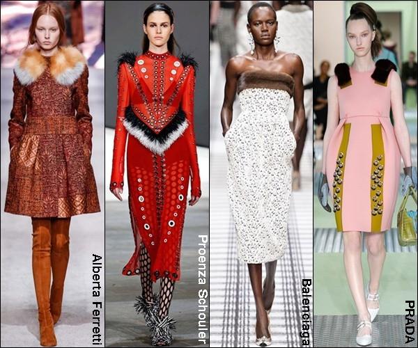 (L to R) Alberta Ferretti; Proenza Schouler; Balenciaga & Prada