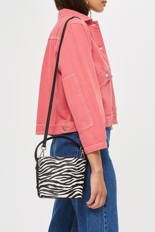 Samira Zebra Bucket Bag $55