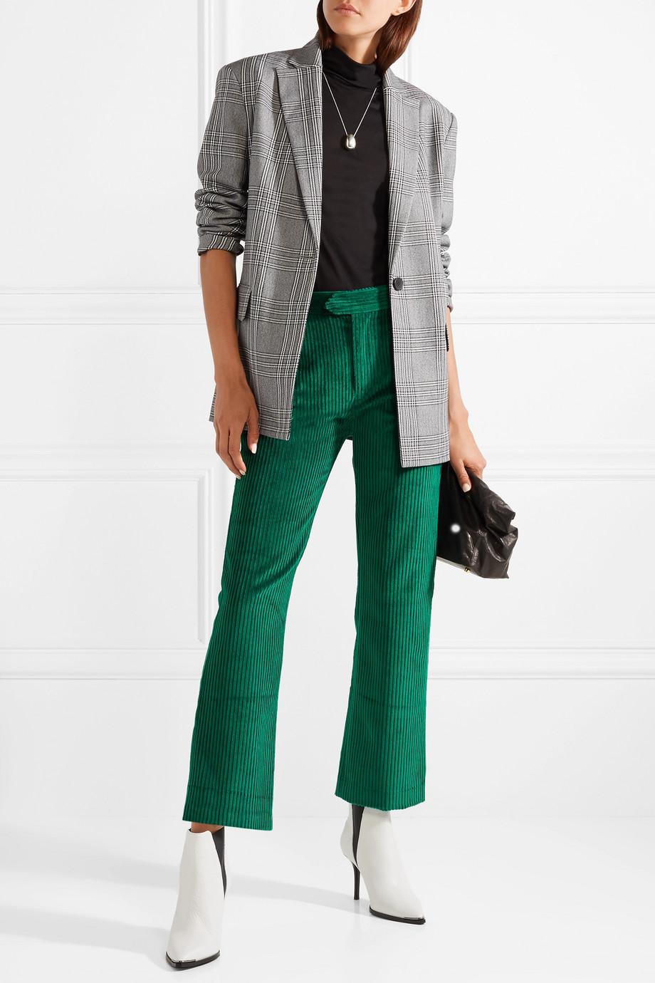 Isabel Marant Mereo cotton-corduroy straight-leg pants $425