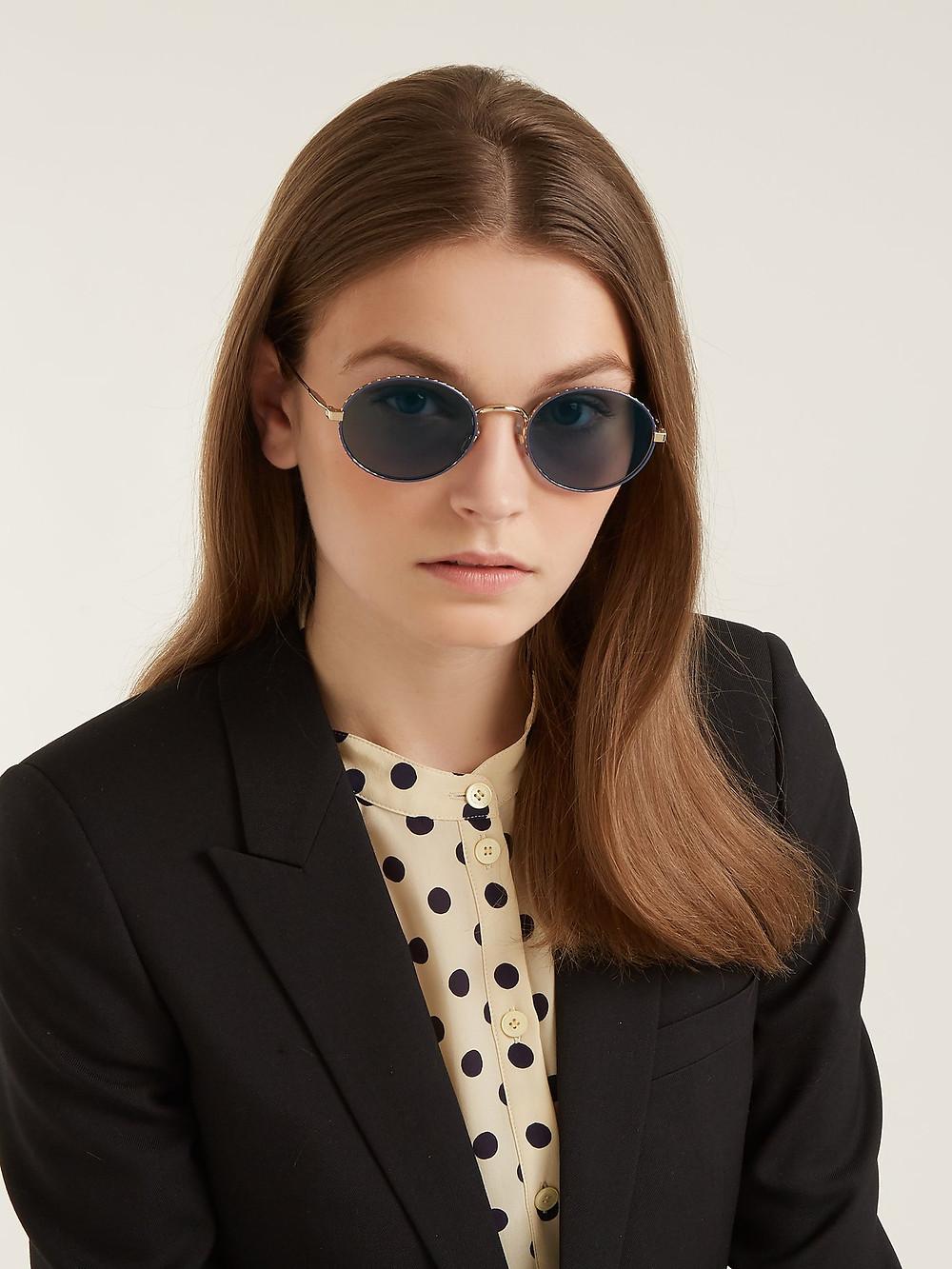 Givenchy Oval-frame metal sunglasses $240