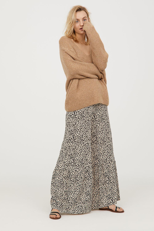 H&M Wide-leg Leopard-Print Pants $17.99