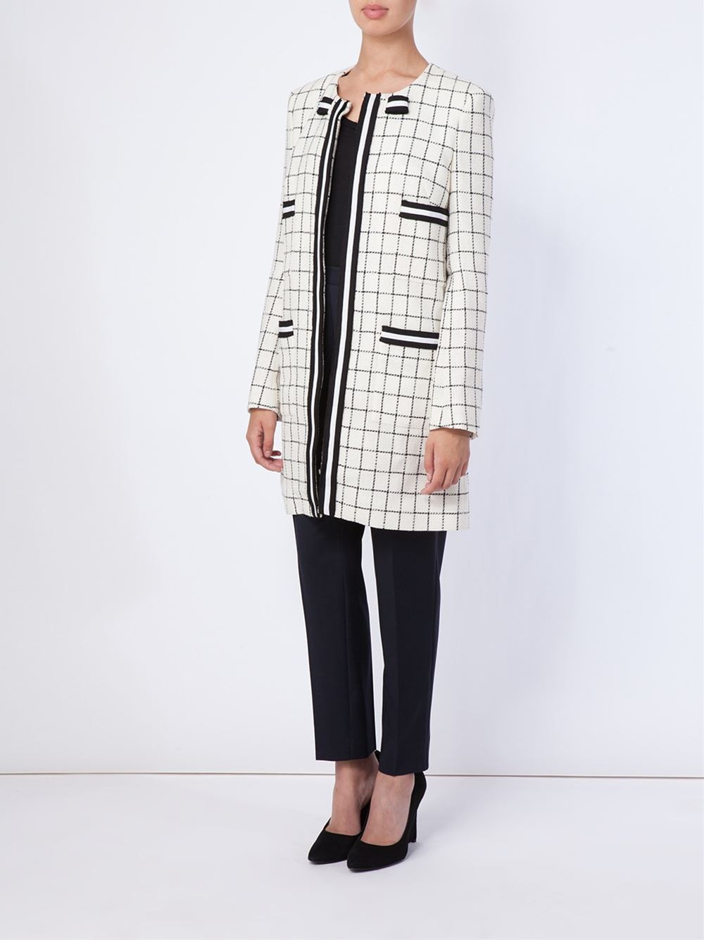 Thom Browne Checked Coat now $2,261.90