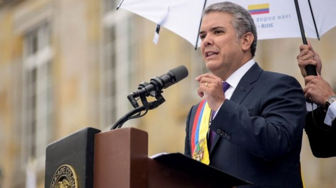Iván Duque: Colombia's new president sworn into office - Read More from BBC News