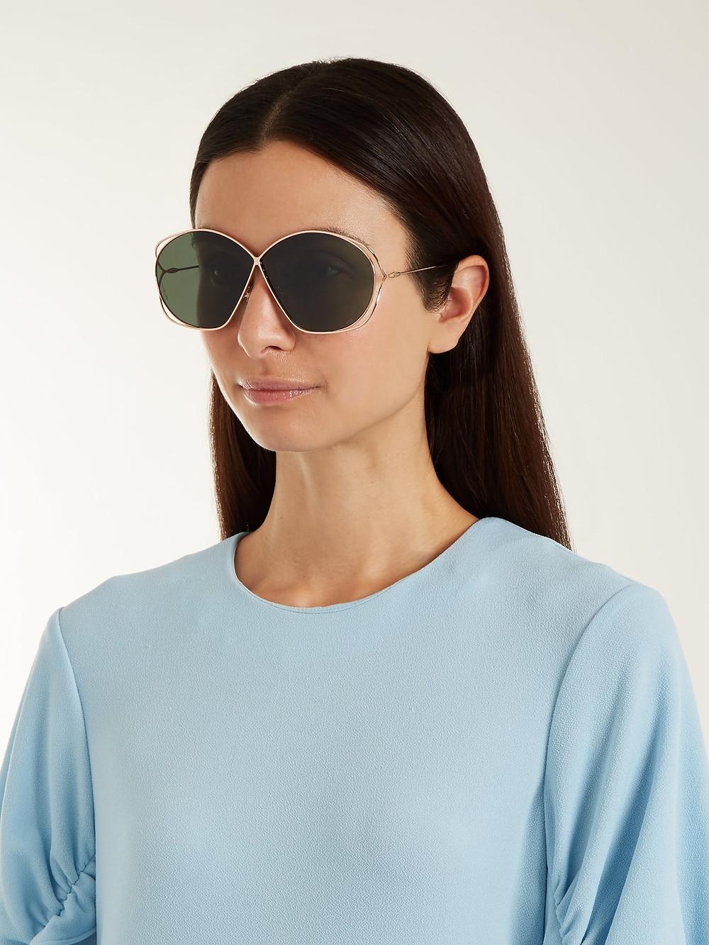 Dior Stellaire2 oversized metal sunglasses $360