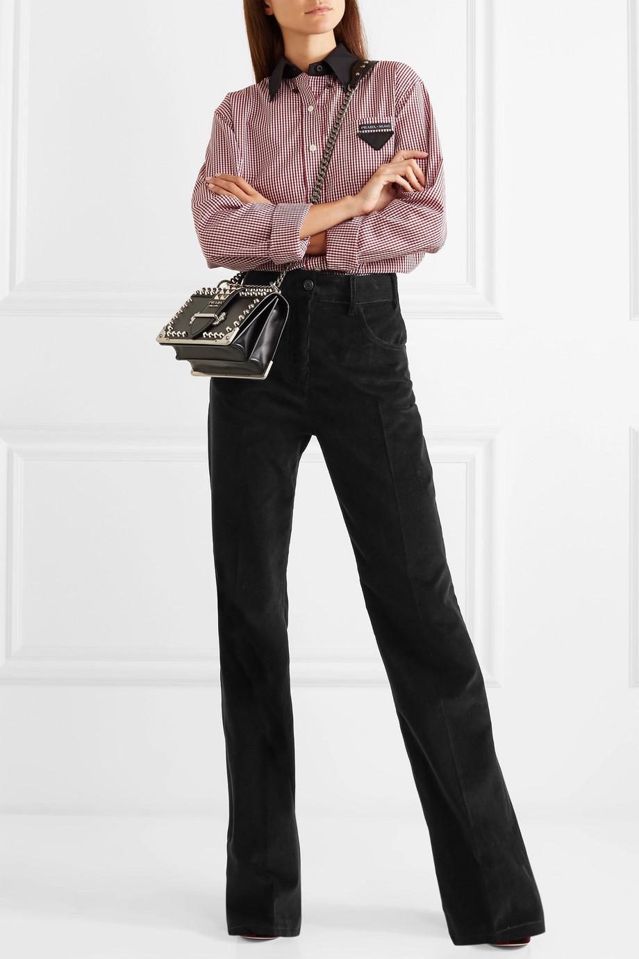 Prada Cotton-corduroy wide-leg pants $980