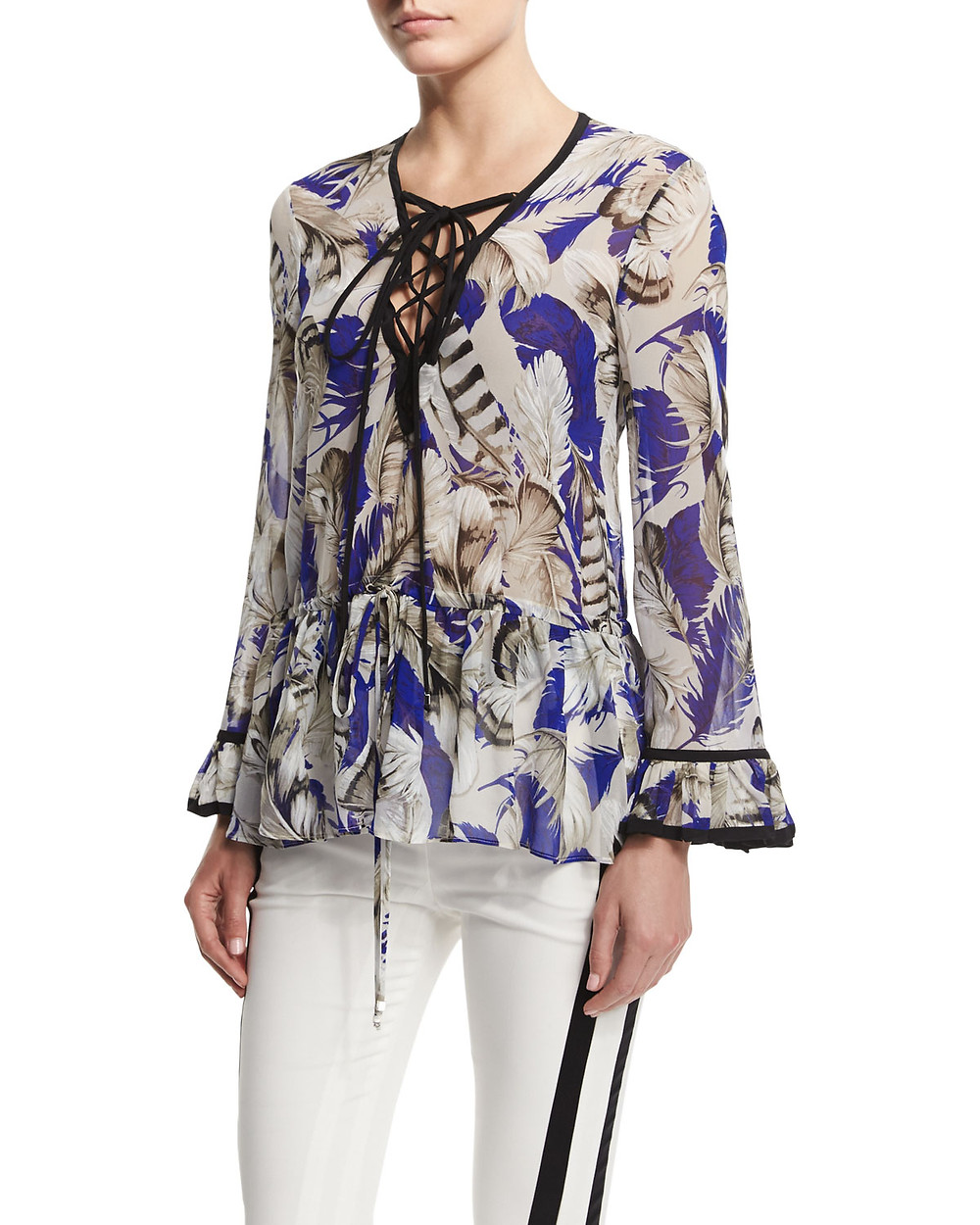 Roberto Cavalli lace-up top $1,530