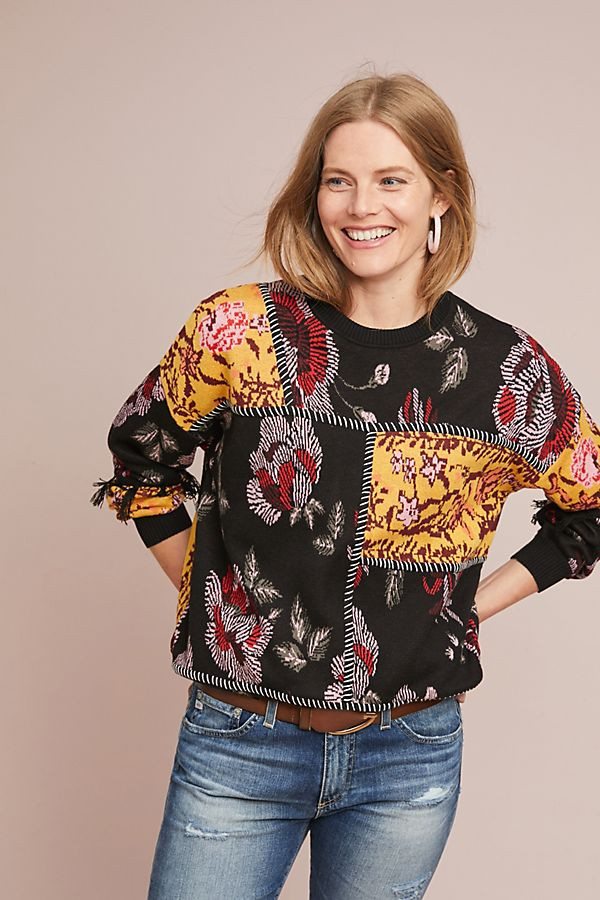LAIA Tabatha Patchwork Sweater $248