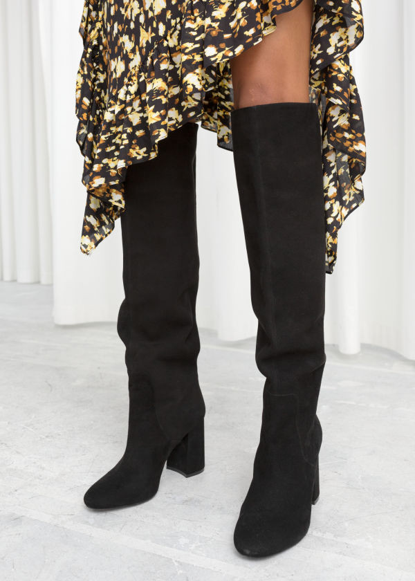 & Other Stories Knee High Suede Boots $279
