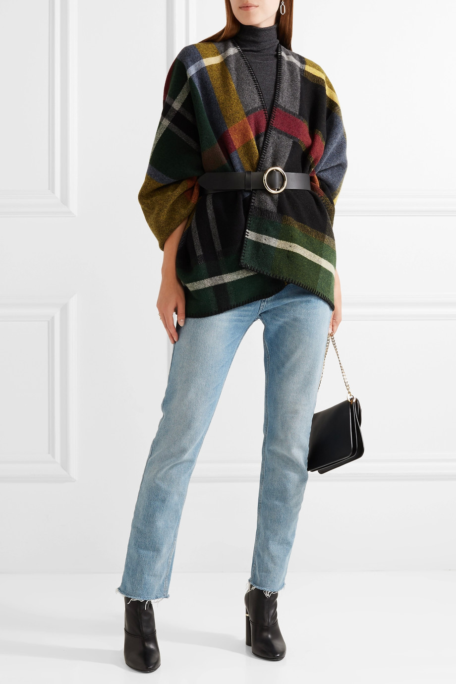Holzweiler Tableau plaid wool wrap $325