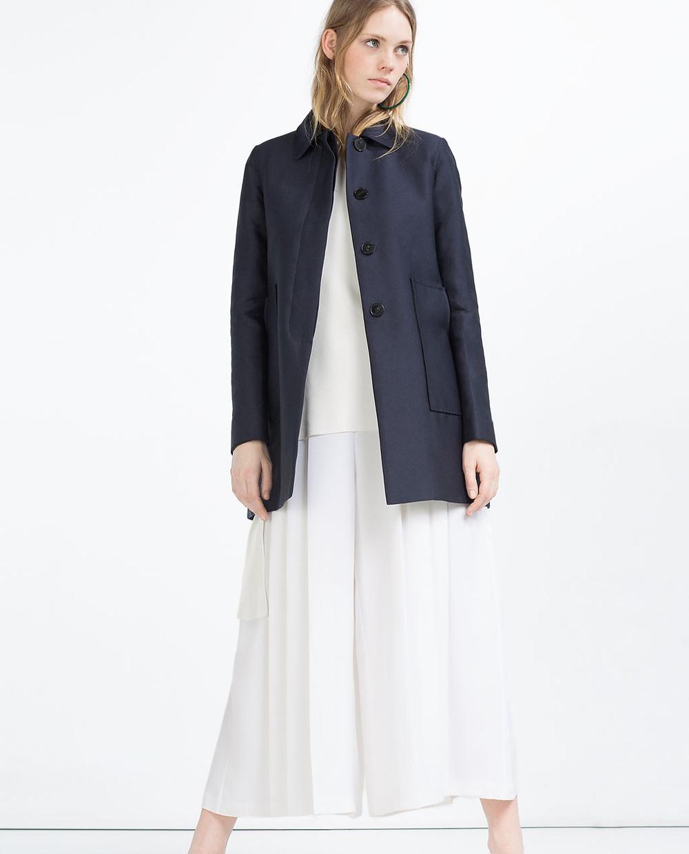 Zara Coat with Peter Pan Collar now $39.99