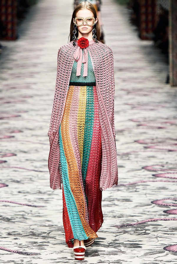 Gucci Spring/Summer 2016 rainbow inspired look (shop the look)